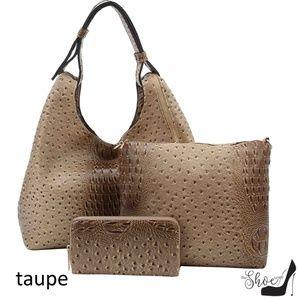 My Bag Lady Online Bags - Ostrich & Alligator Hobo, Crossbody & Wallet Set